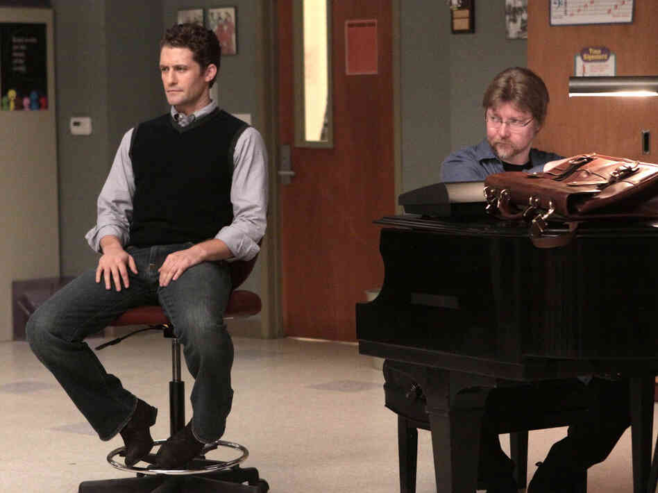 Matthew Morrison and Brad Ellis on 'Glee'