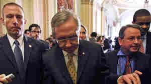 Senate Majority Leader Sen. Harry Reid (D-NV), unhappy with Obama's tax cut deal.