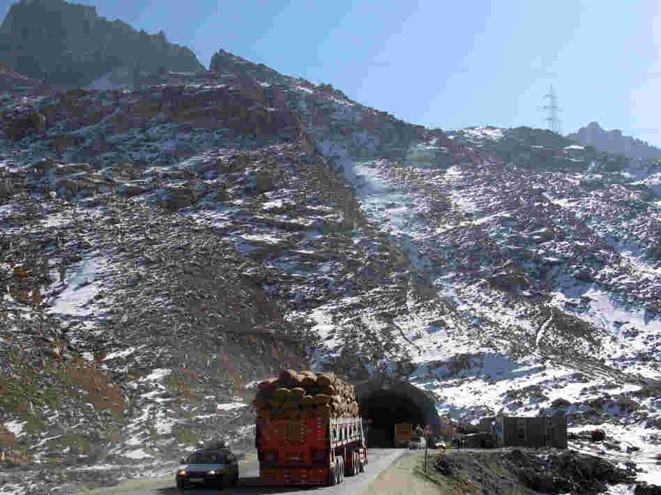 The south side of the Salang Tunnel.