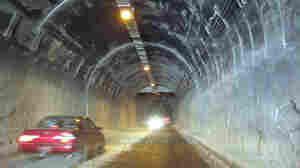 Inside the Salang Tunnel in northern Afghanistan.