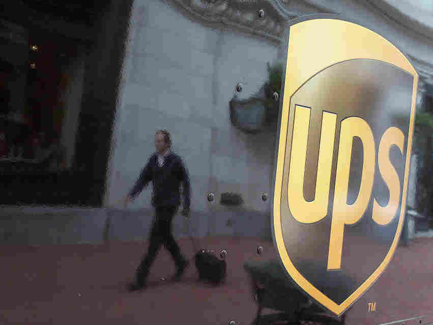 A UPS truck on the streets of San Francisco; Feb. 2, 2010.