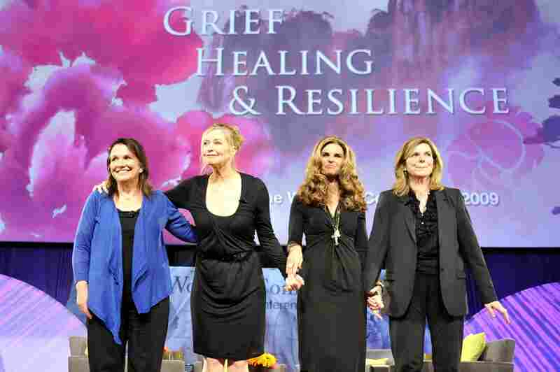 Edwards, Lisa Niemi, Maria Shriver and Susan Saint James participate in a panel discussion at the 2009 Women's Conference  on October 27, 2009, in Long Beach, Calif.