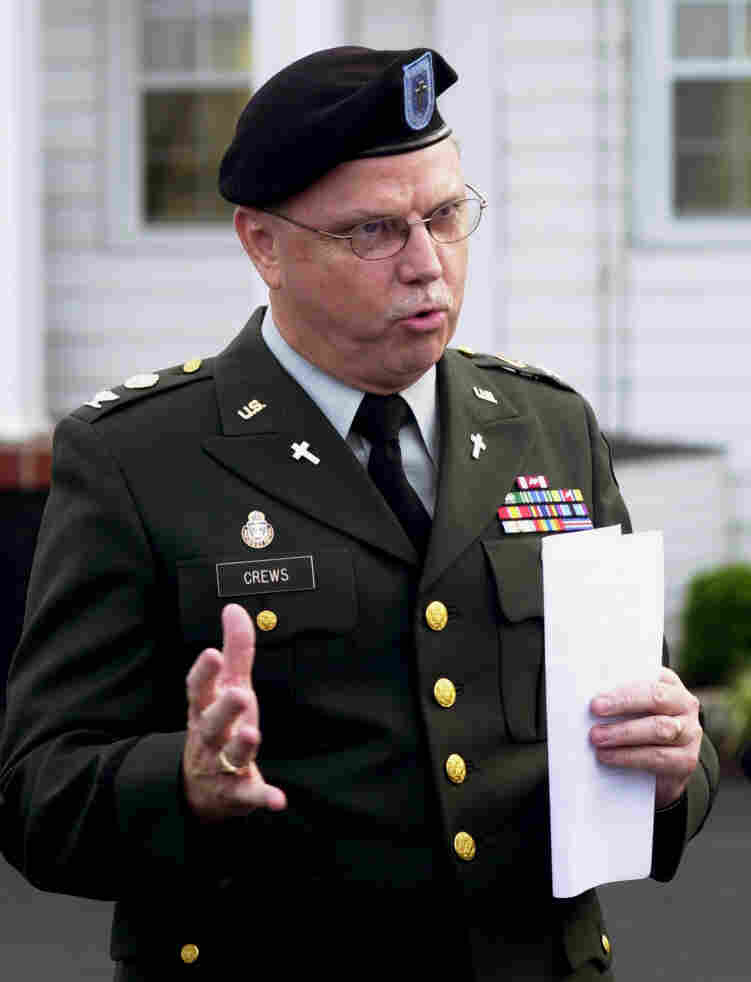 Retired Army colonel and chaplain Ronald Crews