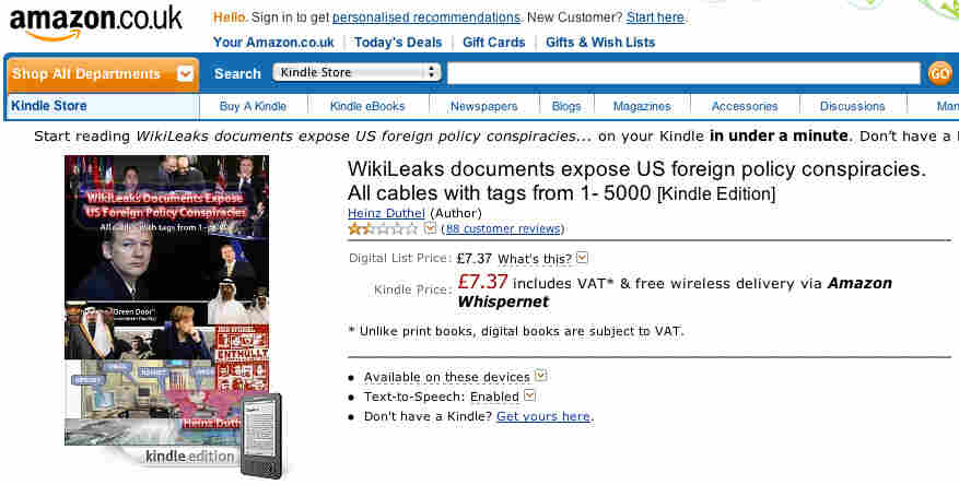 A screenshot of the Amazon UK site.