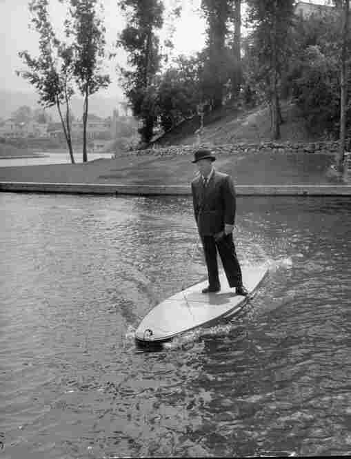 Thanks to Hollywood inventor Joe Gilpin, you can now surf fully clothed!