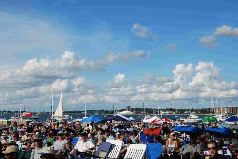 Boats at the Newport Jazz Festival.