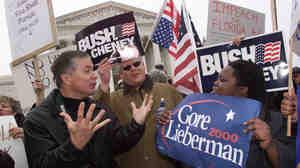 Dec. 11, 2000: The scene outside the Supreme Court.