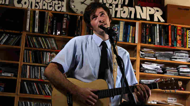 Chris Otepka of The Heligoats performs a Tiny Desk Concert at the NPR Music offices.