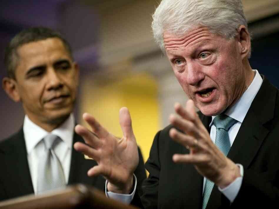 Former President Clinton says he backs President Obama's tax deal with Republicans.