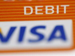 A Visa debit card