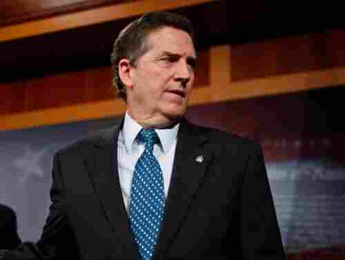 Sen. Jim DeMint (R-SC) holds a news conference at the U.S. Capitol in Washington, DC.