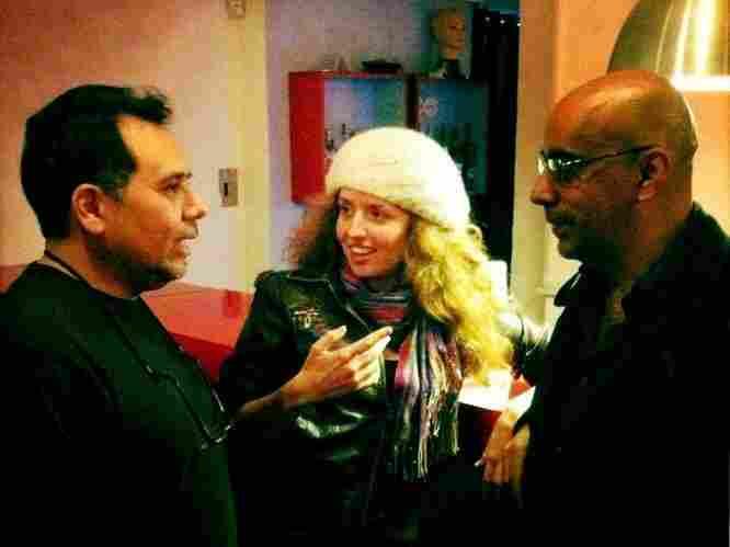 Felix and Jasmine hanging with Ivan Benavides.