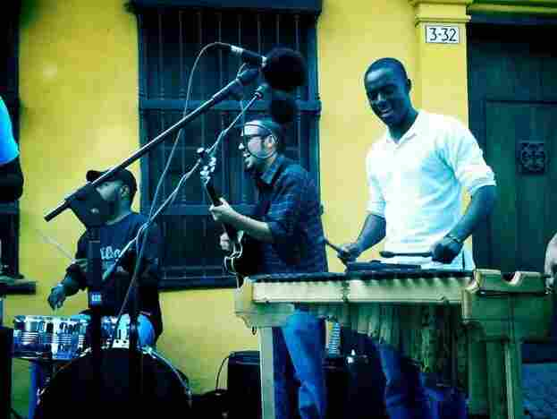 Recording Herencia de Timbiquí, a cool young band that mixes Afro-Pacific roots music with salsa, fu