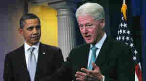 President Obama former President Clinton at the White House on Friday.