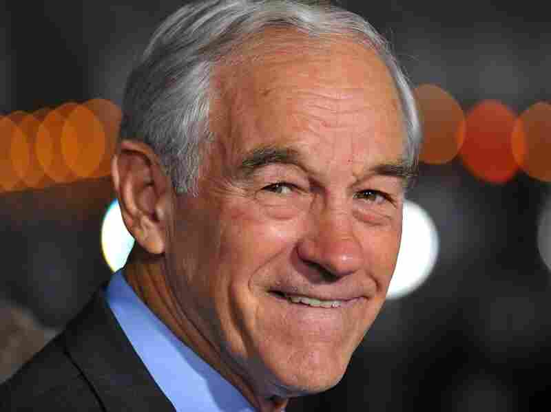 Ron Paul arrives at the a movie premiere in Los Angeles.