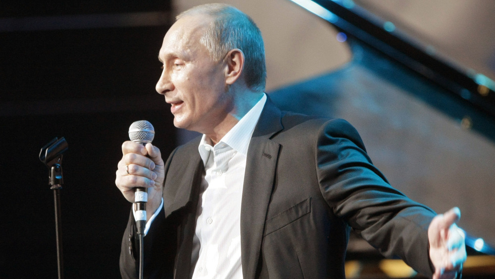 Video Russia S Putin Sings Blueberry Hill At Charity Dinner The Two Way Npr