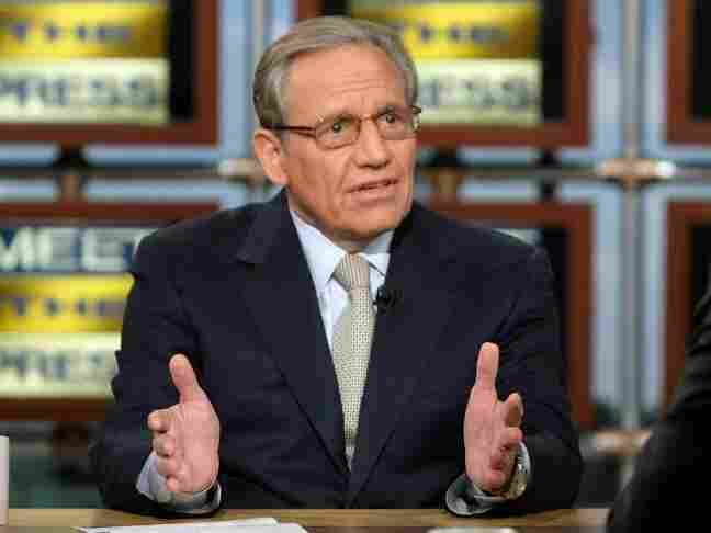 Bob Woodward of the Washington Post speaks during a taping of 'Meet the Press.'