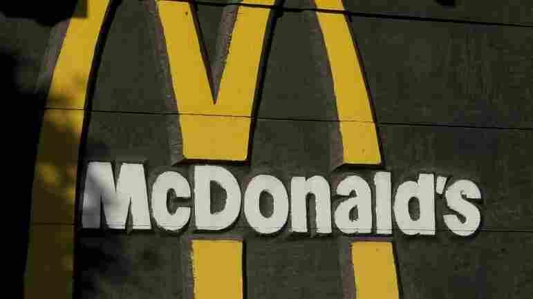 A McDonald's sign.