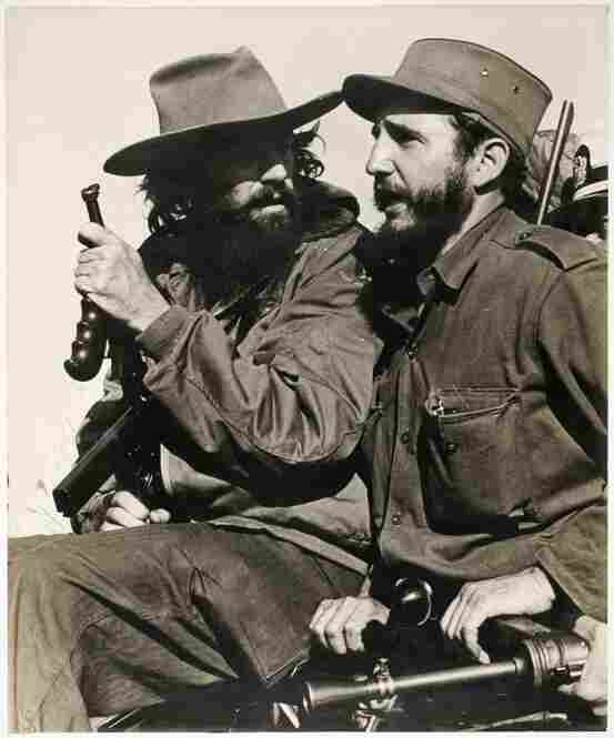 Fidel Castro and Comandante Camilo Cienfuegos entering Havana, Jan. 8, 1959