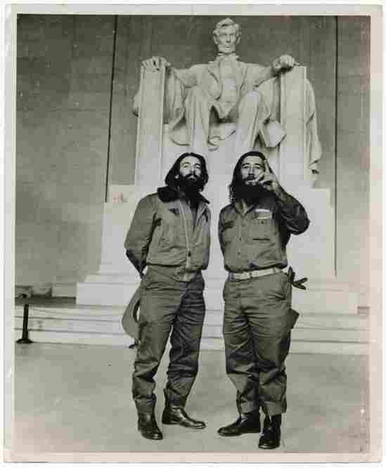 Comandante Camilo Cienfuegos and Captain Rafael Ochoa at the Lincoln Memorial, Washington, D.C., 1959