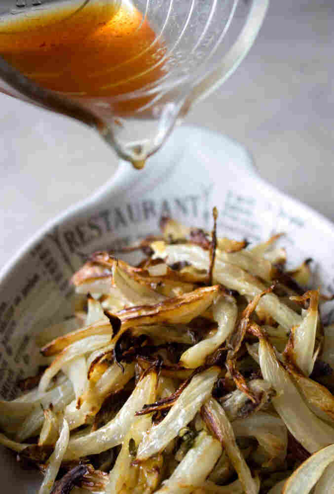 Roasted Fennel And Onion With Apple Cider Glaze
