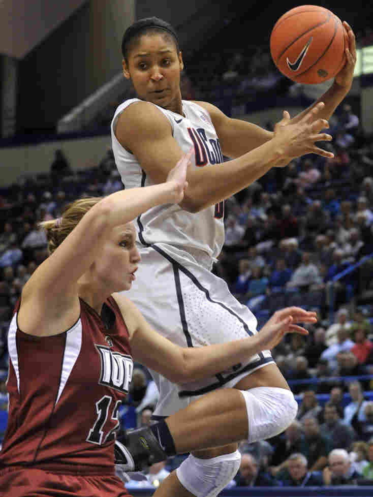 Connecticut Husky Maya Moore has led her team to new heights in college basketball.