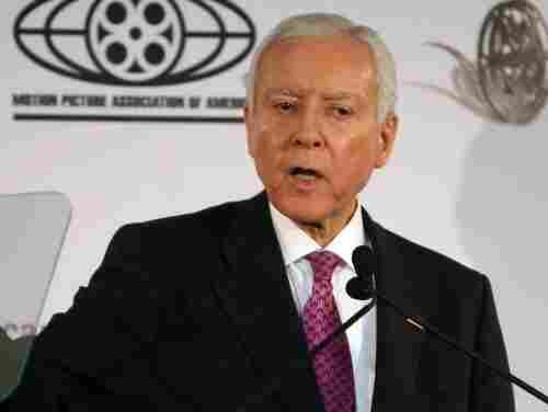 Senator Orrin Hatch (R-UT) speaks during a symposium in Washington, DC.