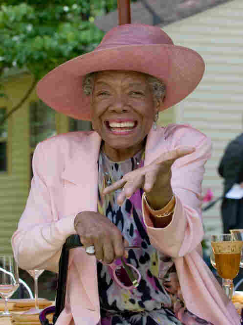 To enjoy meals, slow down and ignore the rules, says poet Maya Angelou. Here, she celebrates her 82nd birthday at her home in Winston-Salem, N.C.