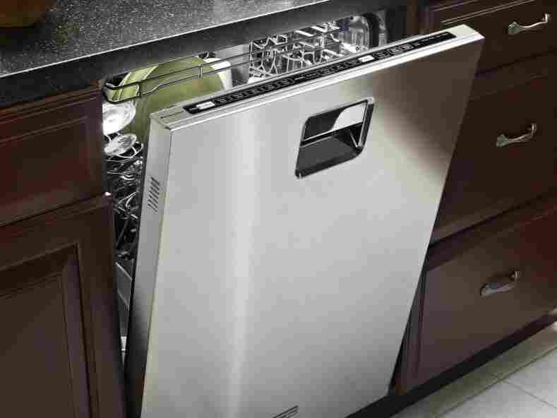 A KitchenAid dishwasher