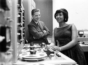 Aretha Franklin and John Hammond in 1961.