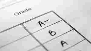 A column of letter grades.
