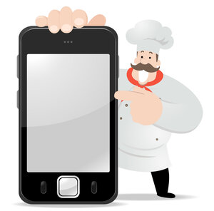Chef and smart phone