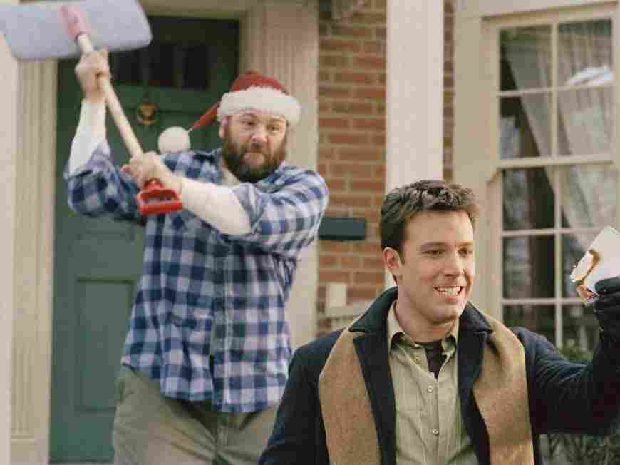 James Gandolfini and Ben Affleck star in Surviving Christmas.
