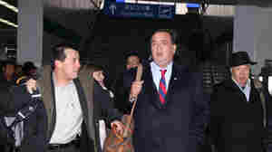 Gov. Bill Richardson arrives for a visit in Pyongyang, North Korea.