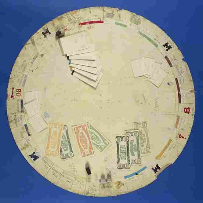 This is the earliest Monopoly game hand-made by Charles Darrow known to survive, and its circular shape is said to be in reference to Darrow's dining room table. It contains the original set of rules and more than 200 pieces. Its estimated price is between 60,000 and 80,000 dollars.
