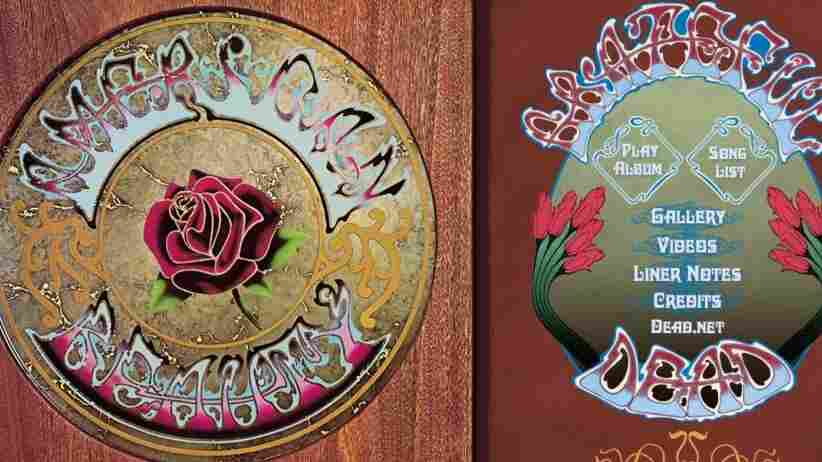 Digital art from an iTunes LP of American Beauty from the Grateful Dead