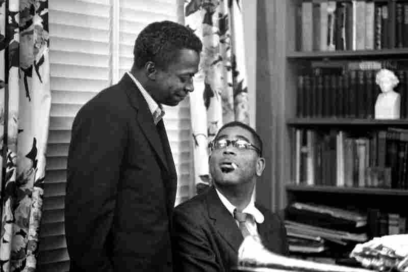 Dizzie Gillespie and Miles Davis, Paris, 1958