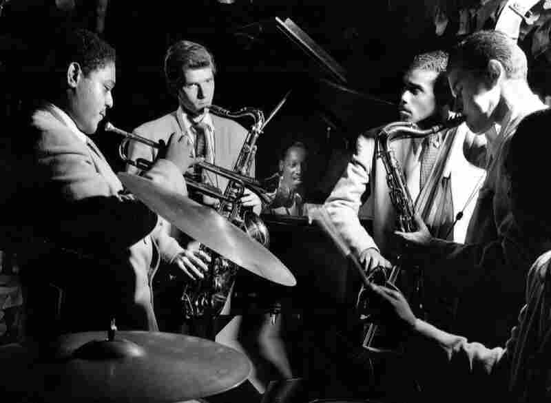 Fats Navarro, Jimmy Ford, Tadd Dameron and group, the Royal Roost, New York, 1948