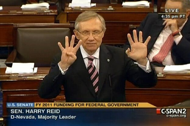 Sen. Harry Reid says 9 Republican senators who said they could support the bill reneged.