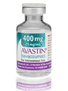 A vial of Gnenetech's Avastin.