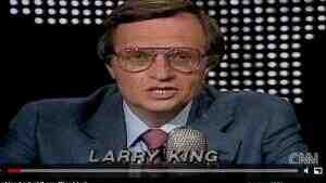 June 3, 1985: the first 'Larry King Live' on CNN.
