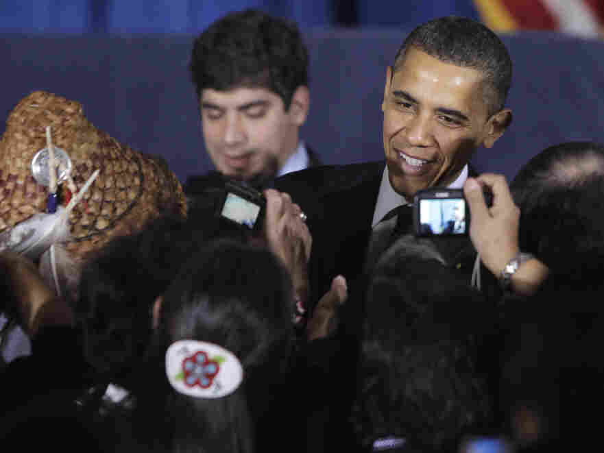 President Obama greets attendees at the White House Tribal Nations Conference, Thursday, Dec. 16, 2010.