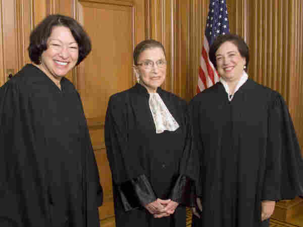 This photo provided by the Supreme Court shows (from left) Justices Sonia Sotomayor, Ruth Bader Ginsburg and Elena Kagan in the Justices' Conference Room on Oct. 1.