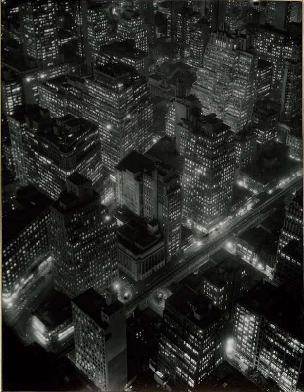 Night View [New York at Night, Empire State Building, 350 Fifth Avenue, West Side, 34th and 33rd Streets], 1932