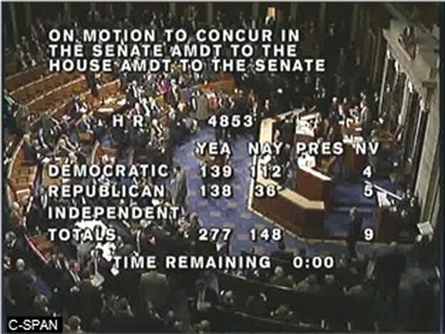 The final tally of the House vote to pass the tax deal struck by President Obama and Republican leaders in Congress.