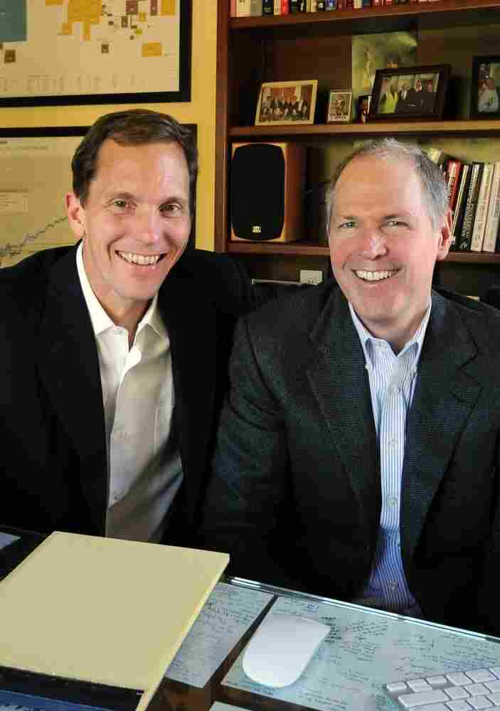 Dan Goldie (left) and Gordon Murray