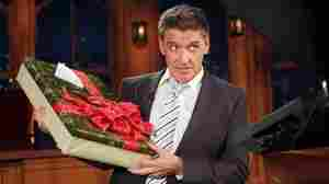 Craig Ferguson shows off the gift he got from Jimmy Fallon.