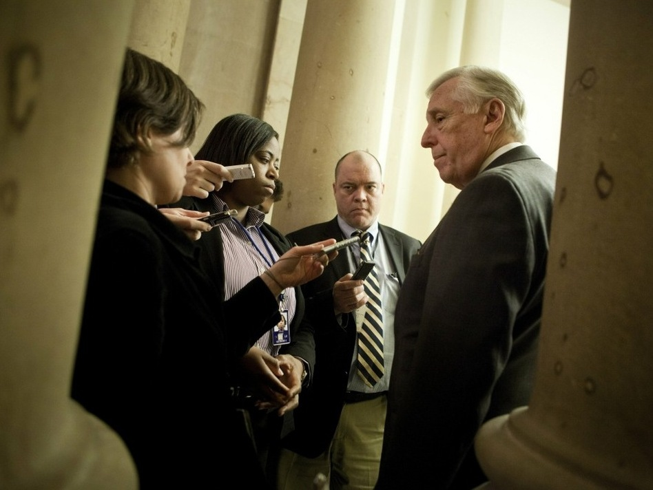 House Majority Leader Steny Hoyer (D-MD) spoke with reporters before the House voted to extend the Bush-era tax cuts. He later conceded that the compromise was unsatisfying for most House members.