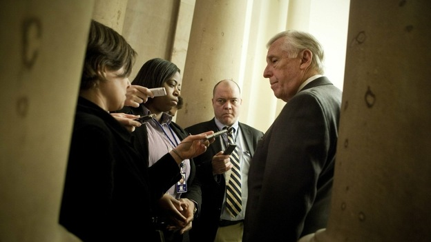 House Majority Leader Steny Hoyer (D-MD) spoke with reporters before the House voted to extend the Bush-era tax cuts. He later conceded that the compromise was unsatisfying for most House members. (Getty Images)
