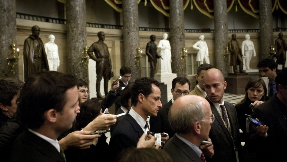 "Rep. Anthony Weiner (D-NY), pictured on Capitol Hill, told CBS' Early Show on Friday that Republicans turned out to be ""better poker players"" than President Obama. (Getty Images)"